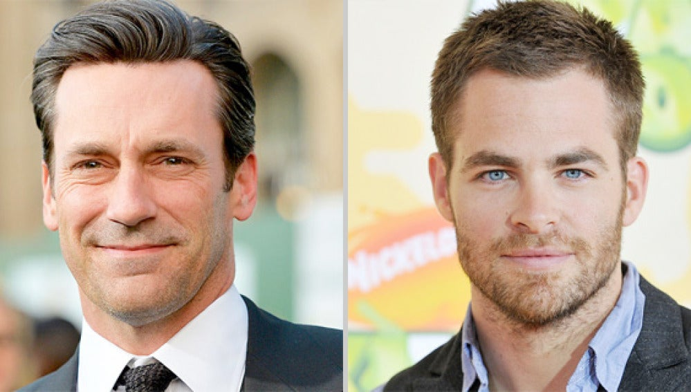 Jon Hamm y Chris Pine