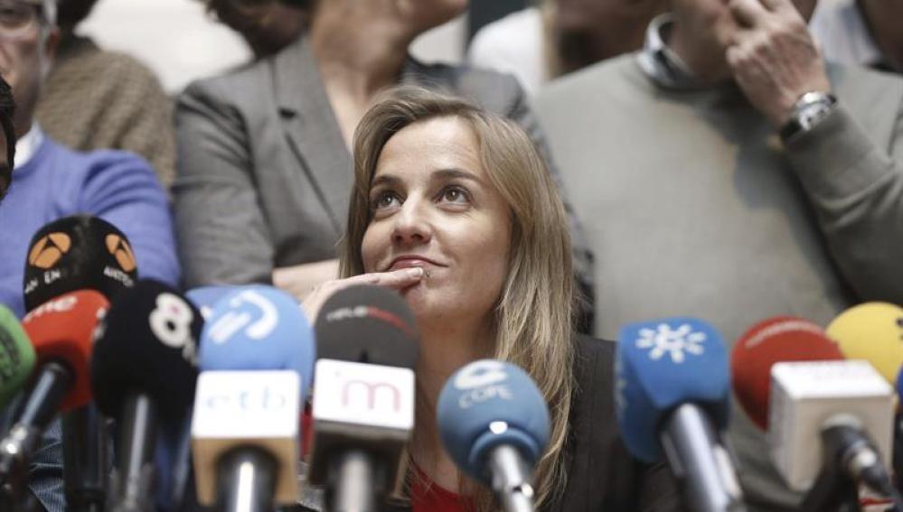 Tania Sánchez en rueda de prensa
