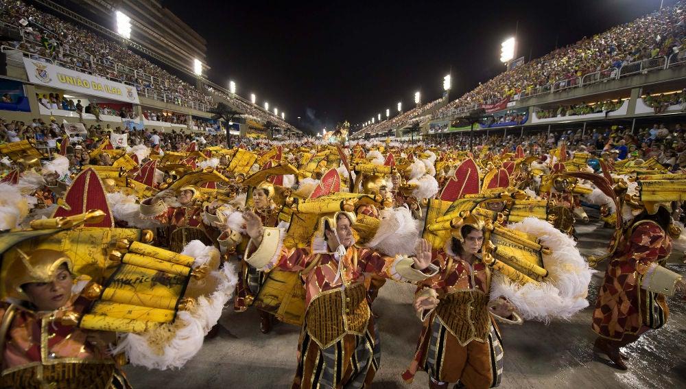 Sambódromo durante el Carnaval de Río de Janeiro