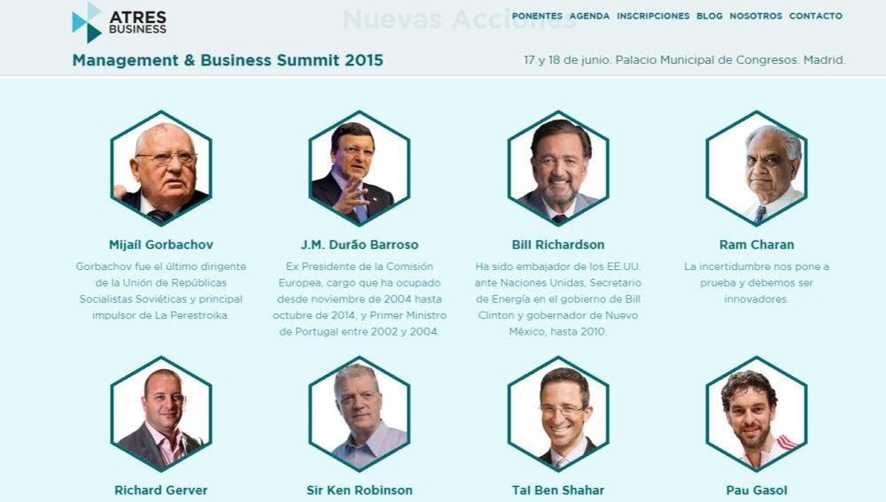 Ponentes del Management & Business Summit 2015