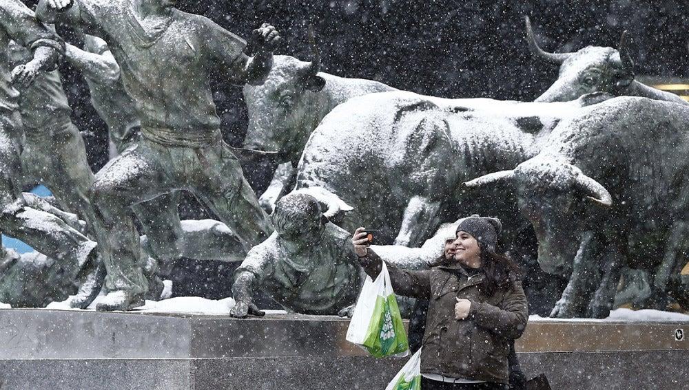 Nieva en Pamplona