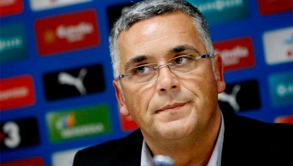 El presidente del Espanyol, Joan Collet