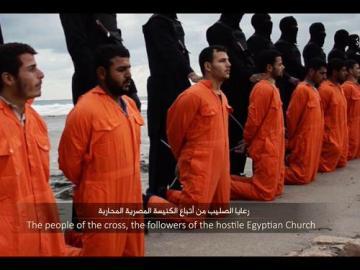 Decapitación de 21 cristianos coptos egipcios por el IS