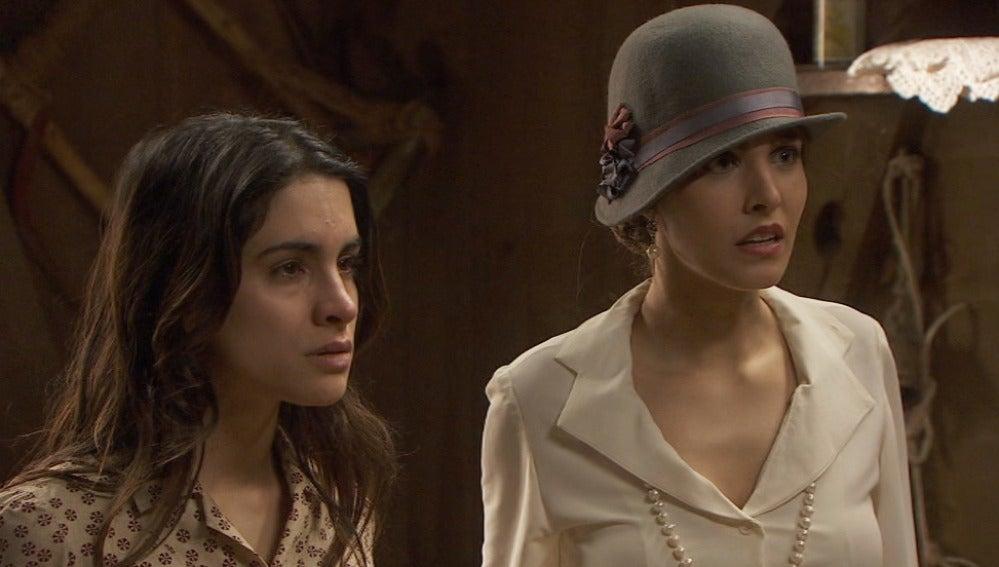 Puente Viejo C1011 - Francisca descubre a Inés y Amalia con Beltran