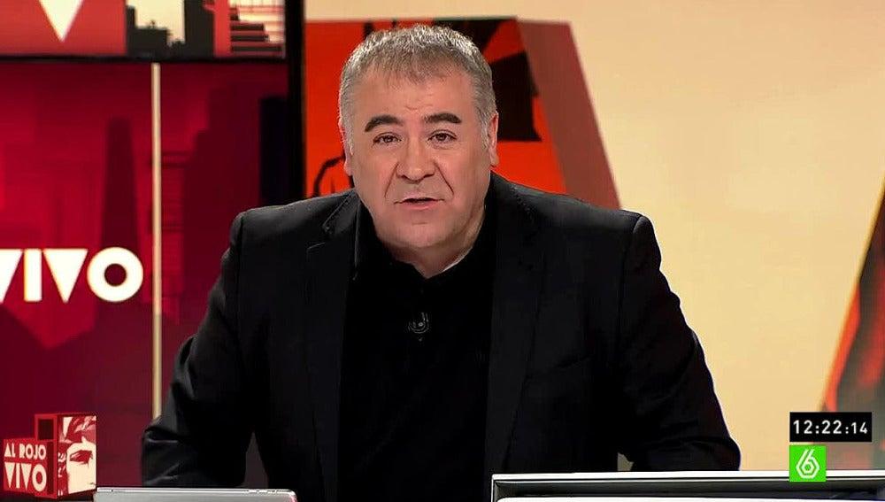 Antonio García Ferreras, presentador de ARV