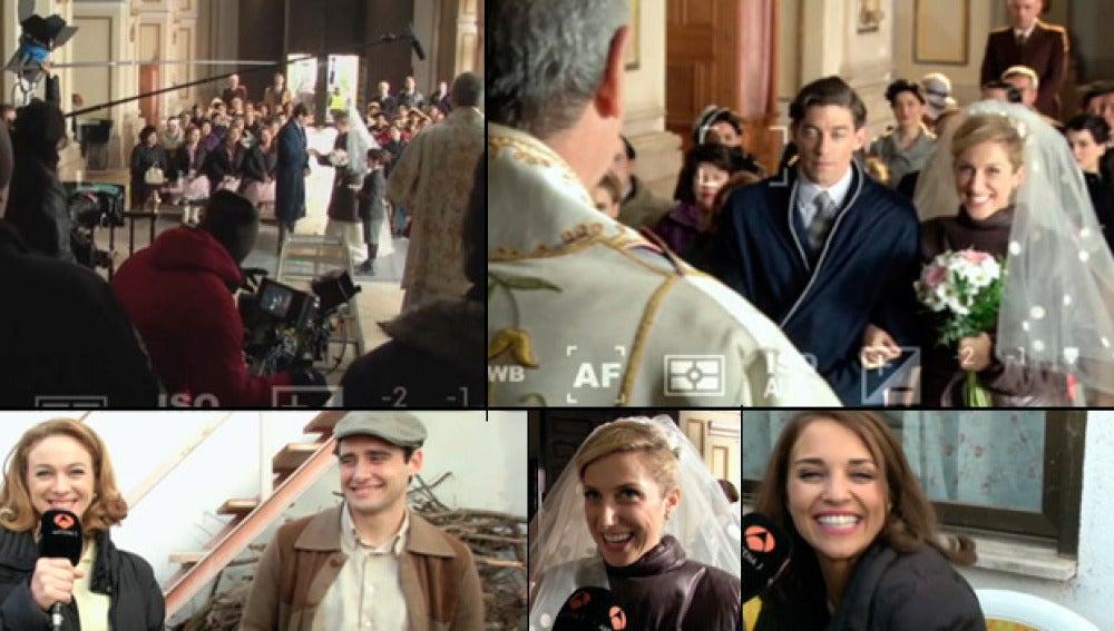 Pasamos un día en 'Porrillos' en la grabación de la boda de Pedro y Rita
