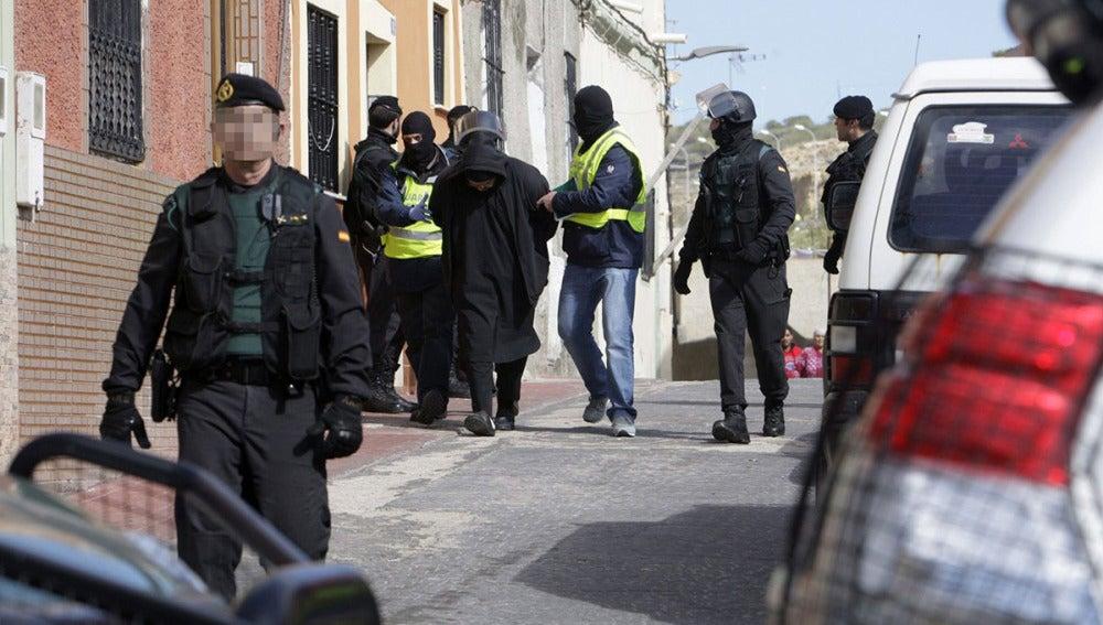 Operción contra un red de reclutamiento de yihadistas