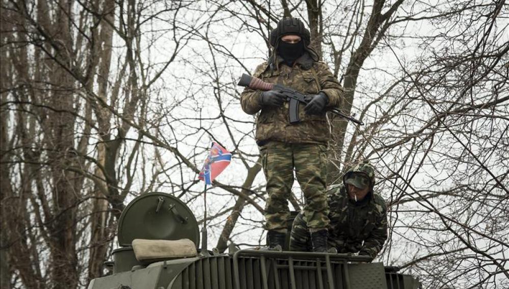 Milicias prorusas en Ucrania.