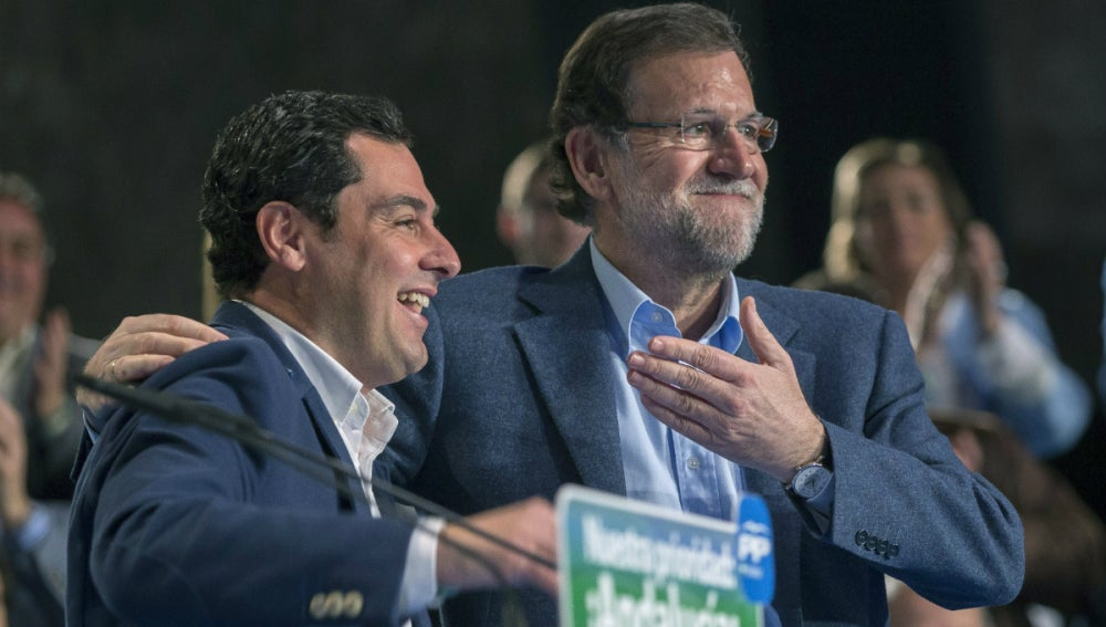 Rajoy, junto a Juanma Moreno