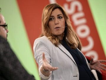 Susana Díaz en un acto en Andalucía