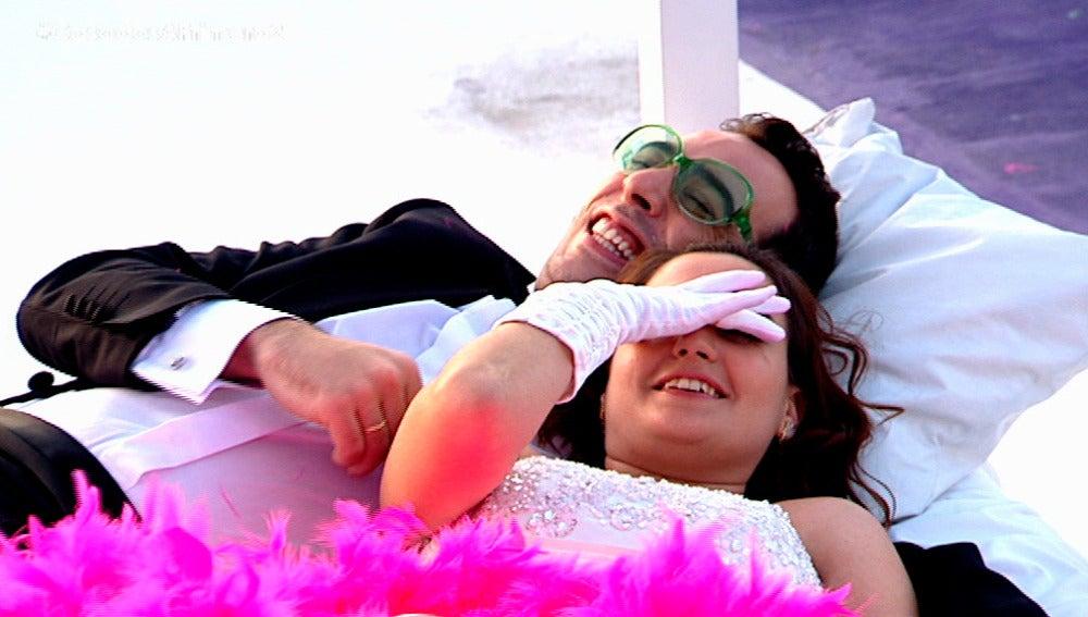 Gloria y Salva se conocen tras haberse casado