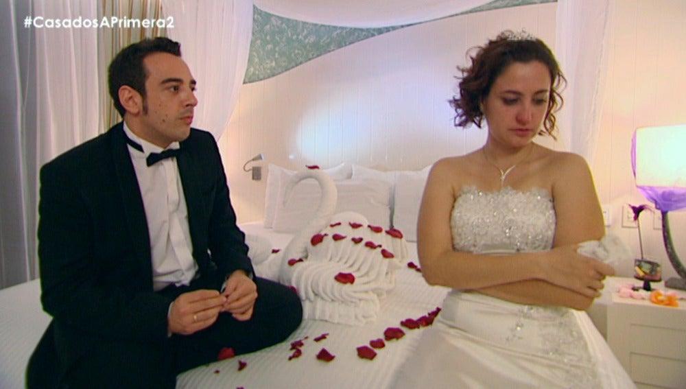 """Gloria y Salva acaban discutiendo en su noche de bodas: """"Quedamos como amigos"""""""