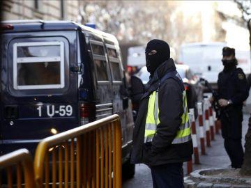 Imagen de la detención de los yihadistas en Ceuta