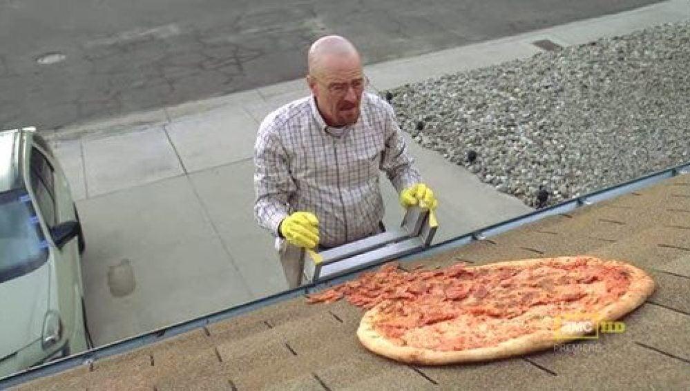 La pizza en el tejado de Walter White