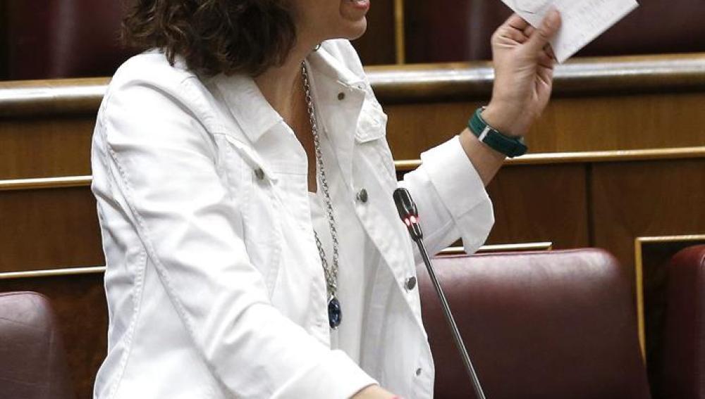 Irene Lozano durante su intervención en la sesión de Control al Ejecutivo