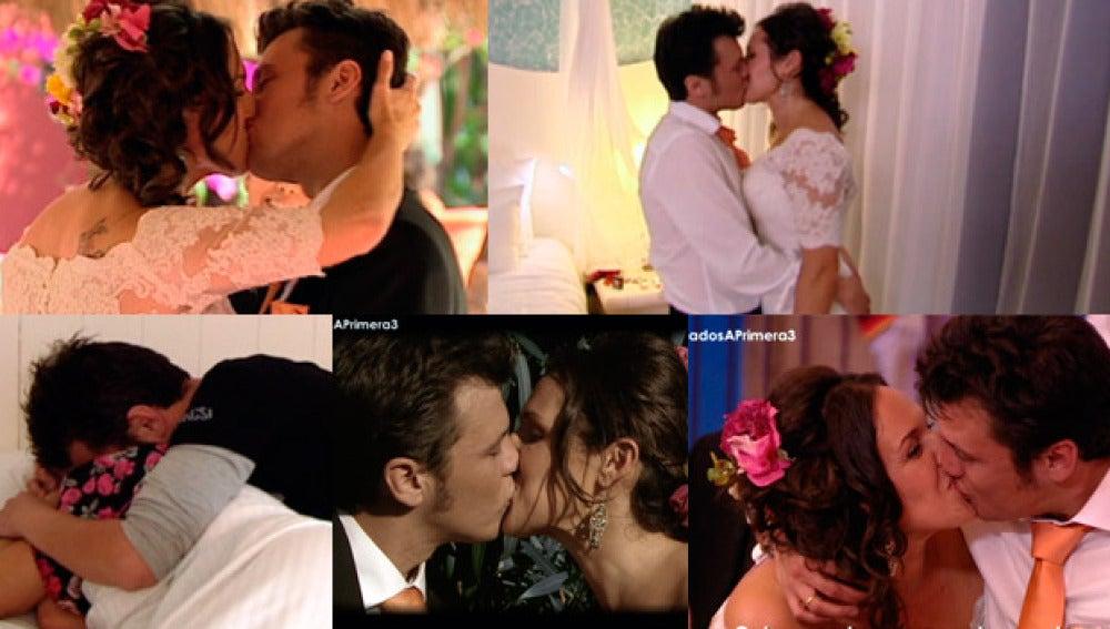Verónica y Enrique se deshacen en besos, besos y más besos