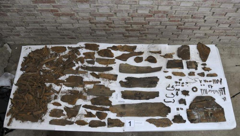 Restos óseos de los nichos del convento de la Trinitaria