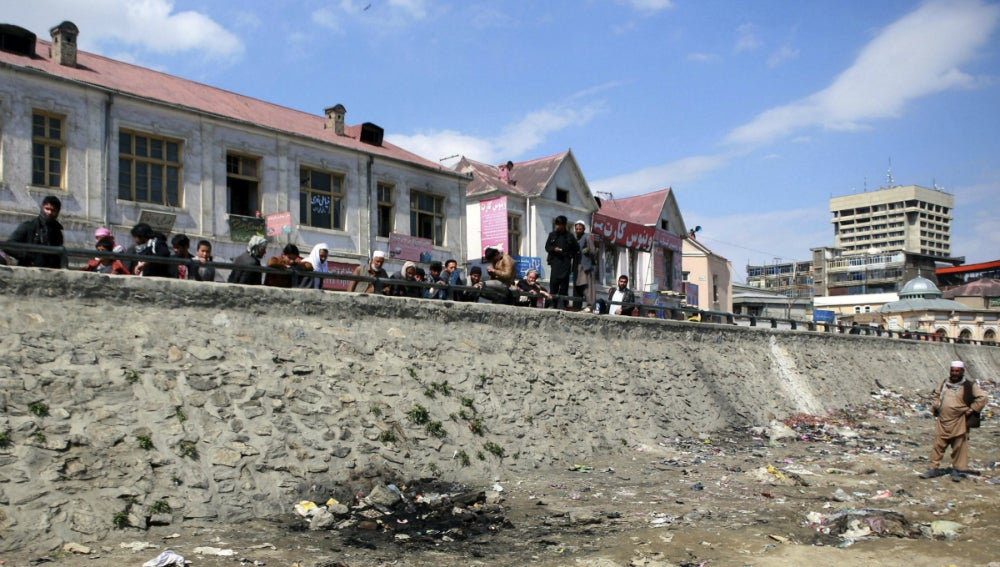 Lugar donde lincharon a la mujer afgana