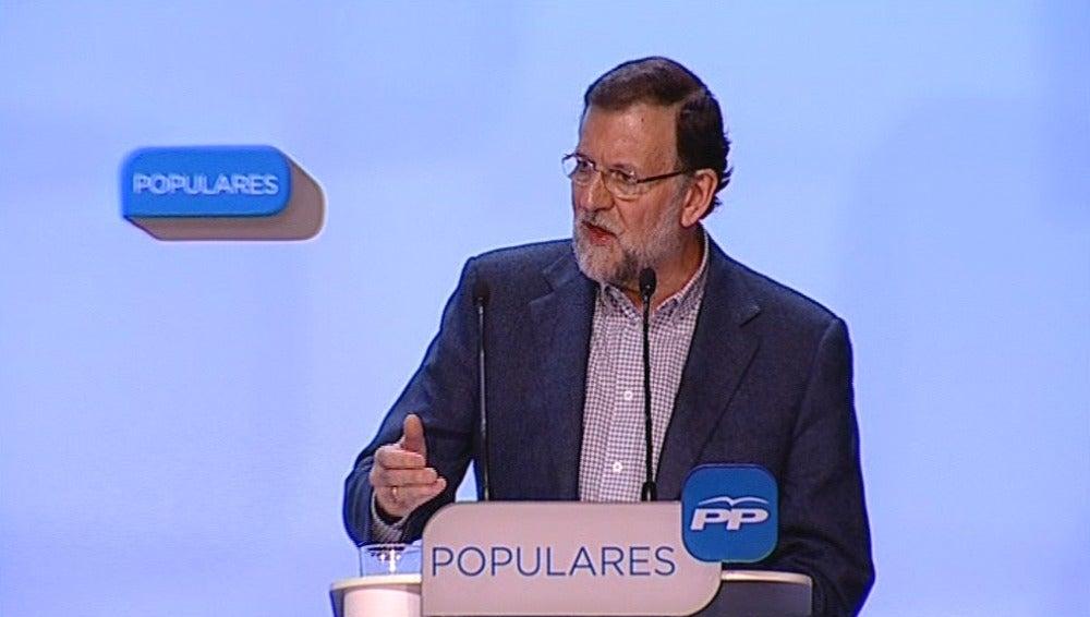 Mariano Rajoy, en un mitin