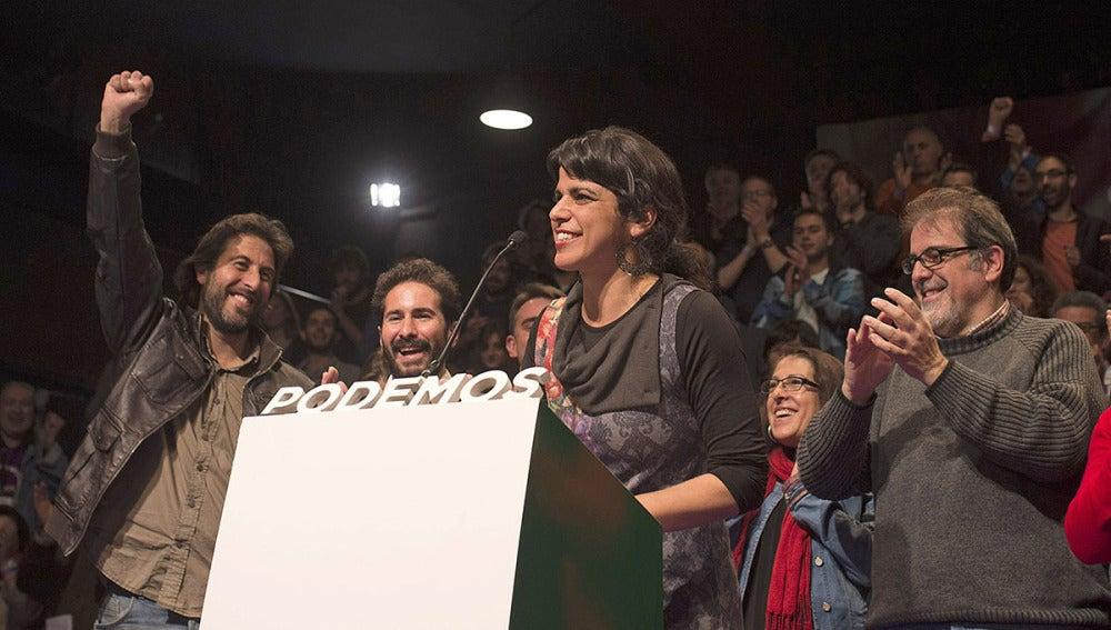 Teresa Rodríguez, secretaria general de Podemos Andalucía