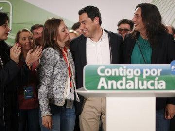 Juanma Moreno tras conocer los resultados electorales
