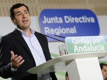 El presidente del PP de Andalucía, Juanma Moreno