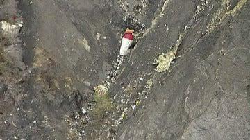 Zona del accidente del avión de Germanwings