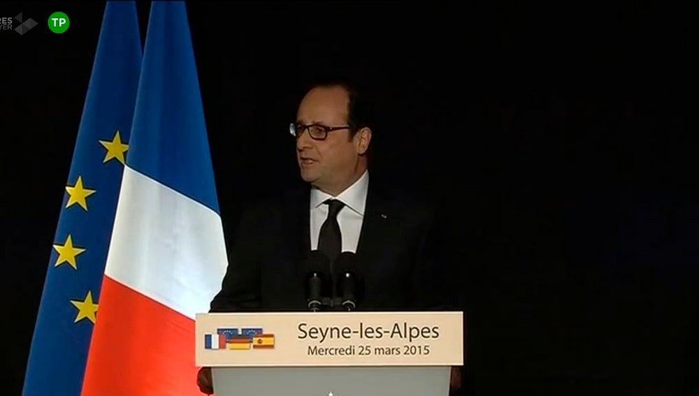 Hollande en la rueda de prensa