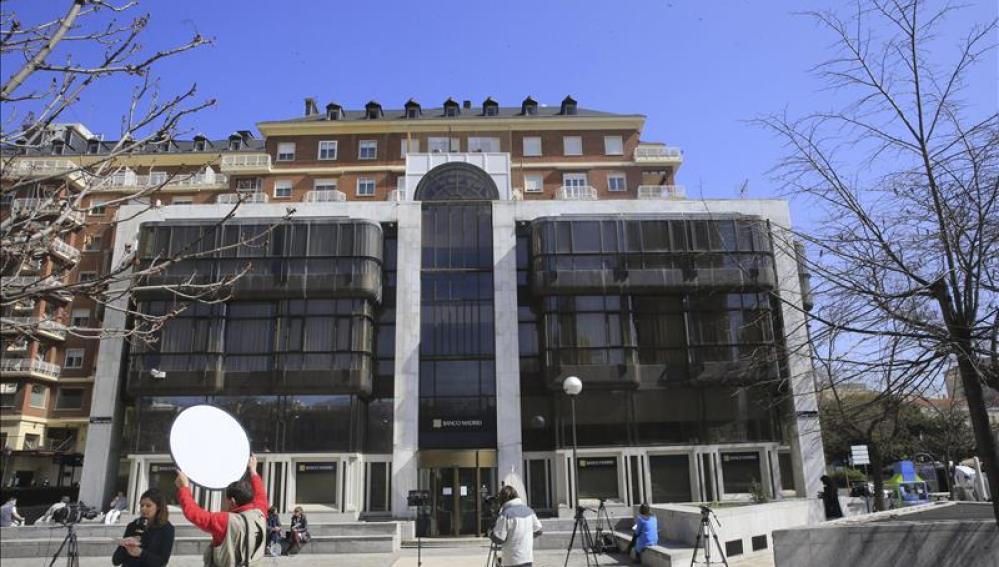 Vista de la sede de Banco de Madrid en la capital madrileña