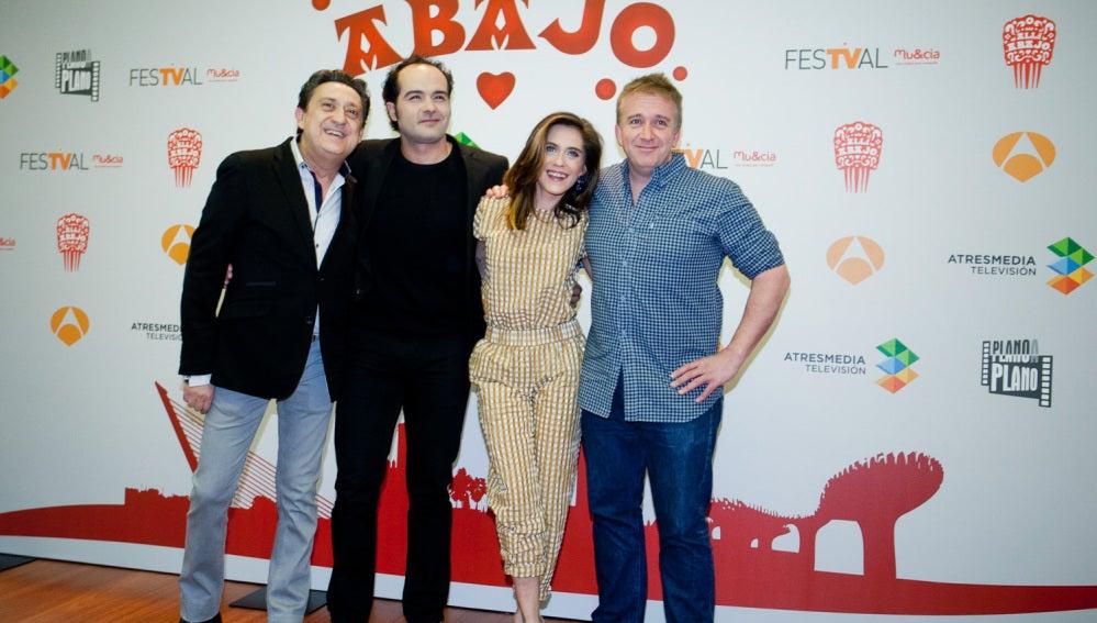 Mariano Peña, Alfonso Sánchez, María León y Óscar Terol