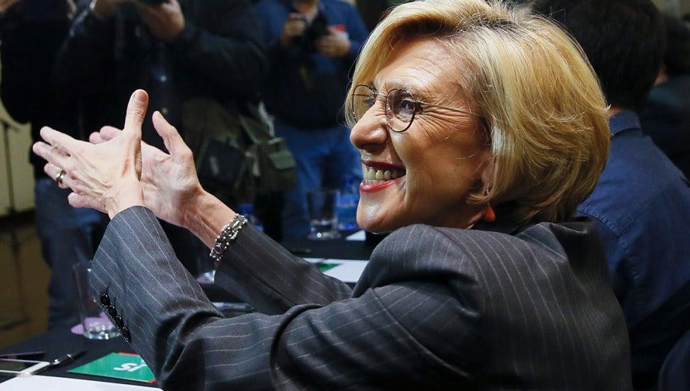Rosa Díez, dirigente de UPyD, durante la reunión del Consejo Político extraordinario en Madrid