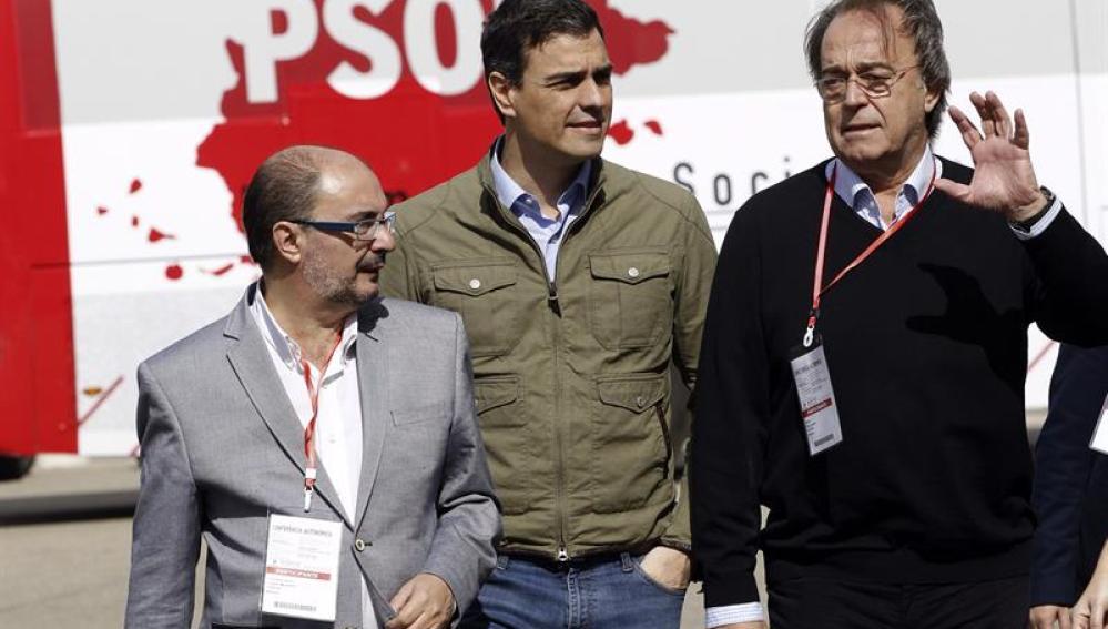 Pedro Sánchez, en Zaragoza