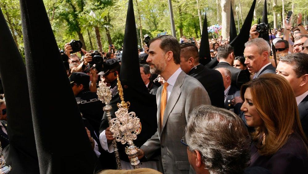 El Rey Felipe VI, en el Lunes Santo en Sevilla