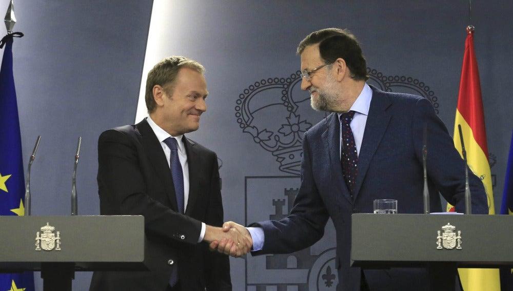 Mariano Rajoy y Tusk