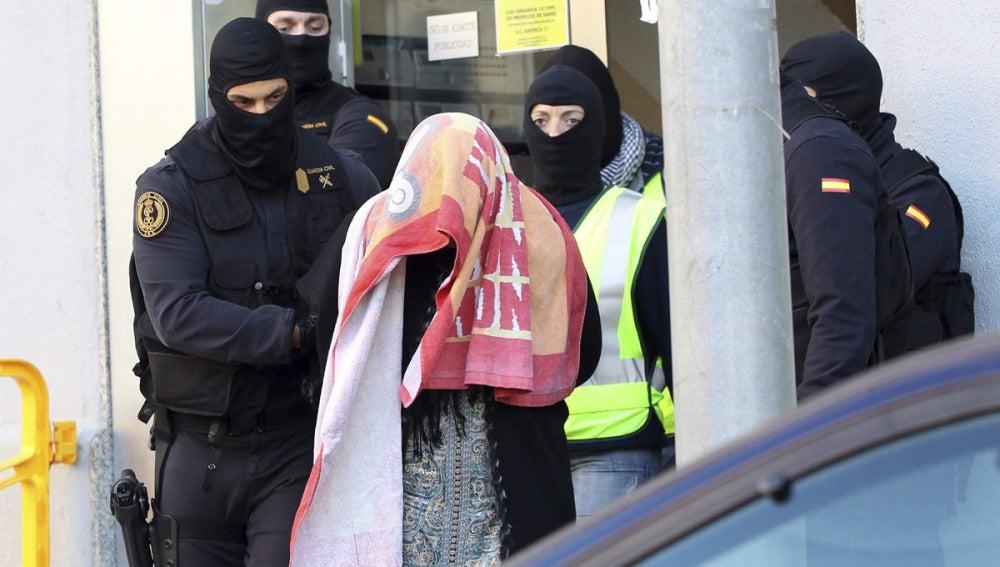 La mujer detenida en Badalona