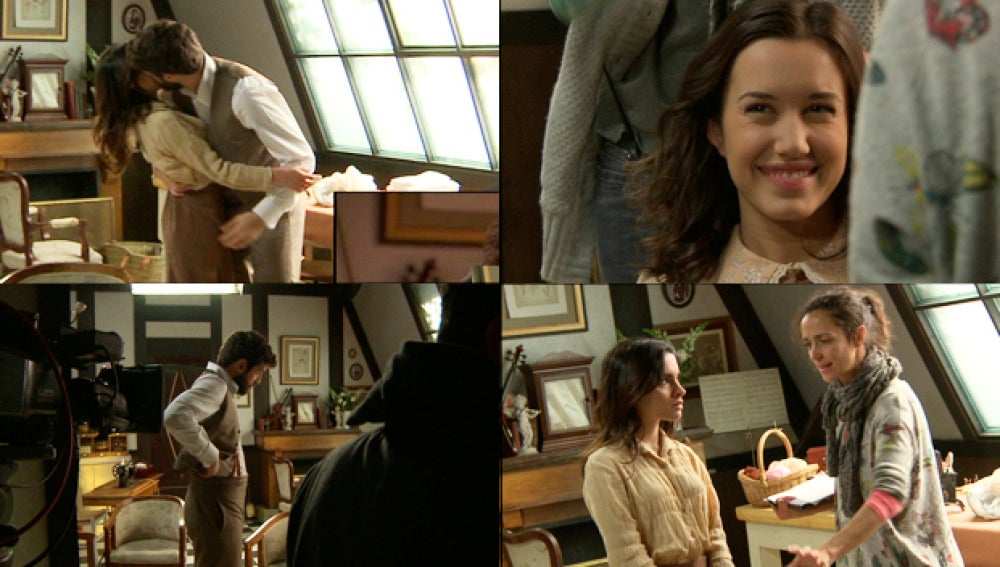ASí se grabó el beso entre Bosco e Inés