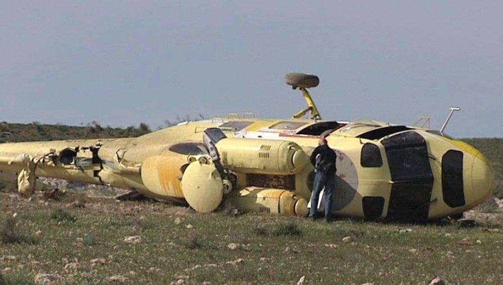 Helicóptero tirado hallado en Níjar