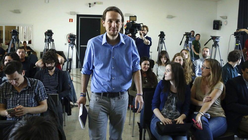Pablo Iglesias en el Círculo de Bellas Artes de Madrid