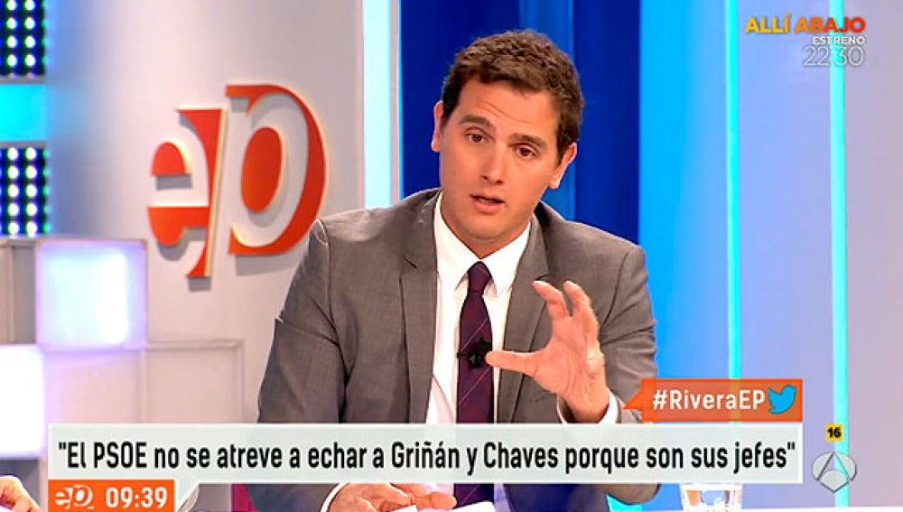 Albert Rivera, en una entrevista en Espejo Público