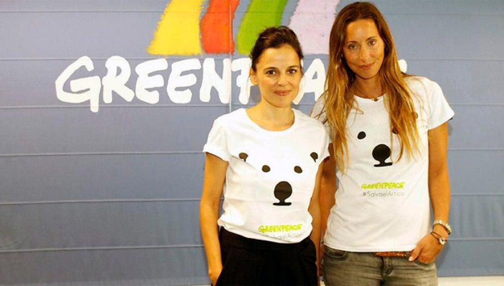 Elena Anaya y Gemma Mengual viajarán con Greenpeace al Ártico