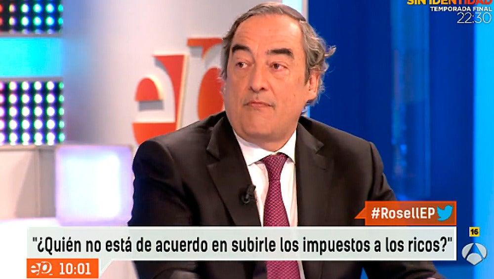 Juan Rosell, en Espejo Público