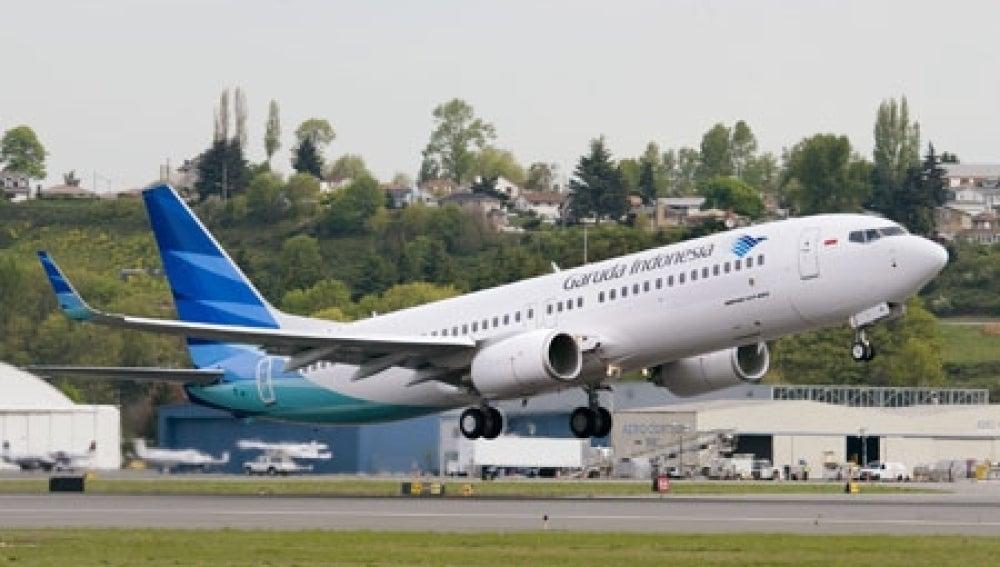 Avión de la compañía indonesia Garuda