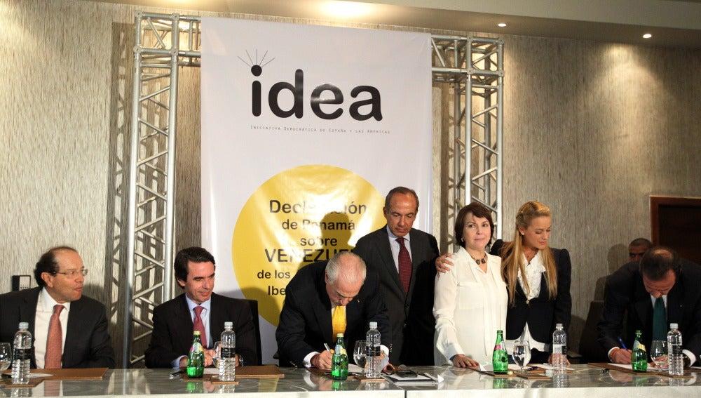José María Aznar, entre los firmantes de la 'Declaración de Panamá' sobre Venezuela