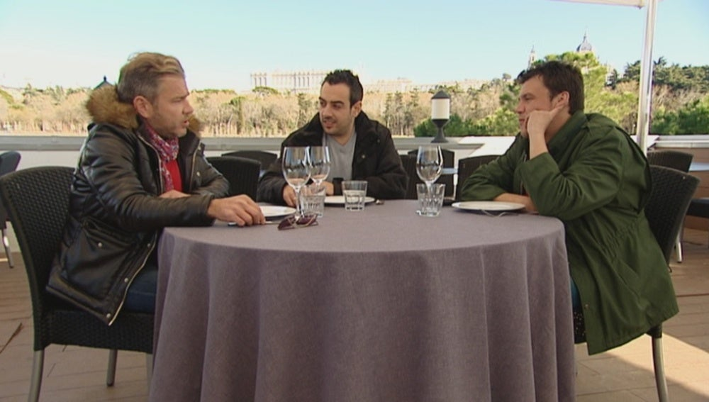 Quique y Salva animan a Laurent para que luche por Toñi
