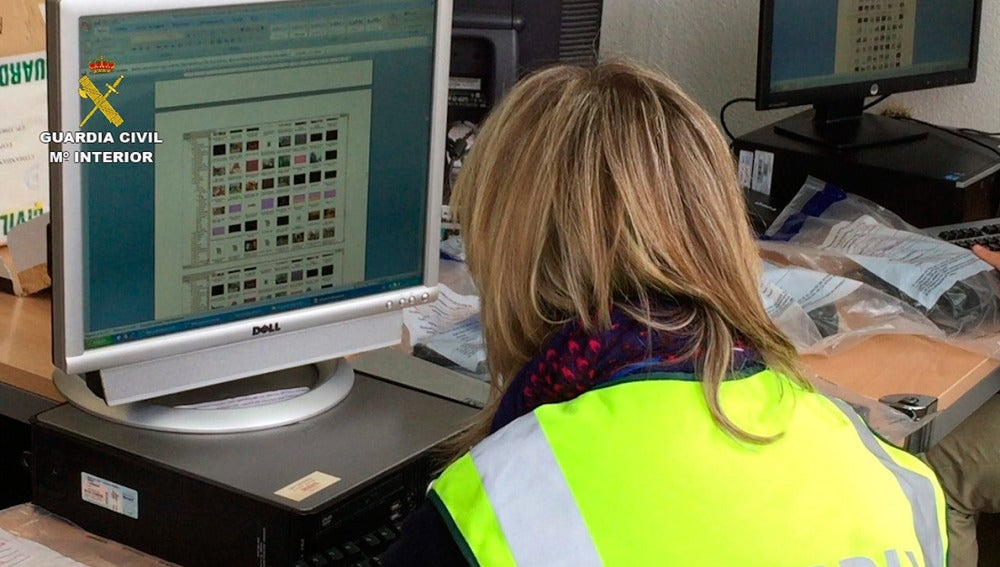 La Guardia Civil analiza contenido pedófilo en un ordenador