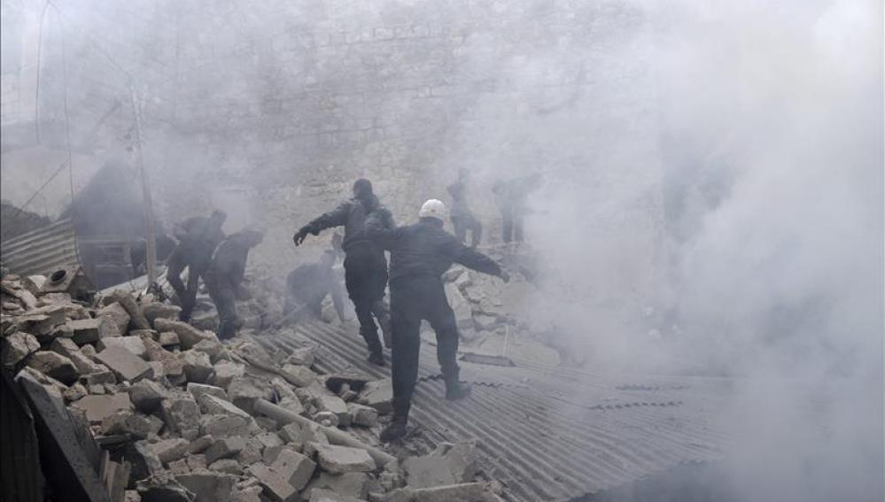 Ataque aéreo en Alepo