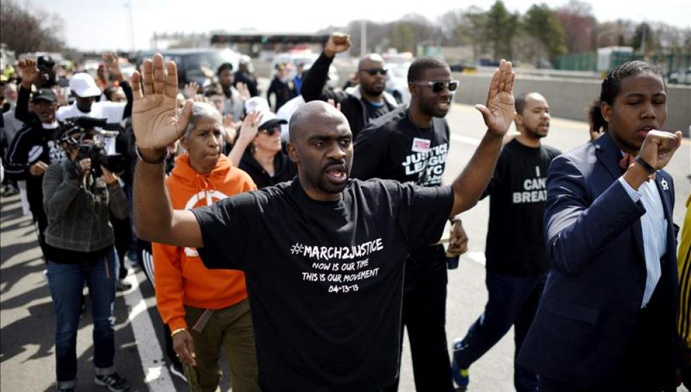 Arranca una marcha de Nueva York a Washington contra la brutalidad policial