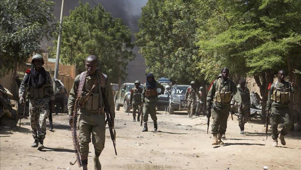 Soldados del ejército maliense.