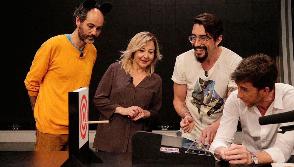 Iván Telefunken, Carmen Machi, Marron y Pablo Motos en El Hormiguero 3.0