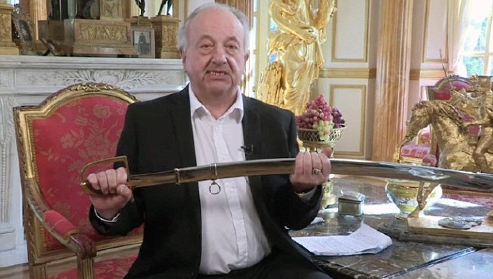 Janek Zylinsky con su espada